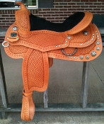Saddle shown in GOLDEN LIGHT BROWN color
